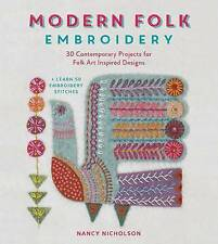 Modern Folk Embroidery, Nancy Nicholson