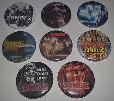 8 Horror Badges Lucio Fulci's Zombie Flesh Eaters Woodoo Zombi 2 Banned DPP39