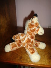 "Giraffe Aurora World Fopsies Gigi Stuffed Plush 6"" Silky Soft Bean Bag"
