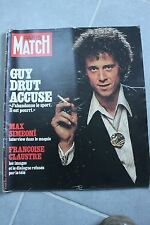 paris match n°1428 guy drut max simeoni f. claustre