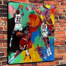 LeRoy Neiman Michael Jordan Print Oil Painting on Canvas Home Decor (Unframed)