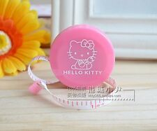Hello Kitty Sewing Accessory Retractable Measuring Tape Case Collectible Pink
