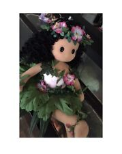 Hawaiian Hula Girl Musical Wind up CLOTH DOLL - Grass Skirt - Plays Aloha Oe