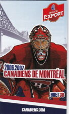 2006-07 MONTREAL CANADIENS HOCKEY POCKET SCHEDULE FRENCH & ENGLISH