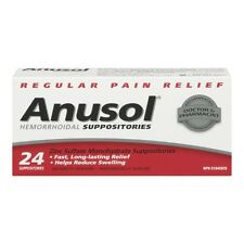 ANUSOL HEMORRHOIDAL SUPPOSITORIES 24 TOTAL - REGULAR PAIN RELIEF