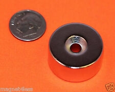 """(2) 1x1/2"""" Rare Earth Neodymium Cylinder Magnet with Dual Sided Countersunk Hole"""