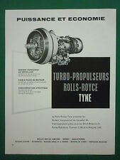 3/60 PUB ROLLS ROYCE TYNE BREGUET 1150 CANADAIR CL-44 VICKERS VANGUARD FRENCH AD