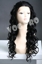 Lace front wig long length curly