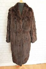 """Beautiful Vintage Brown Real Russian Squirrel Fur Coat, Chest 46"""" Size 16 /18"""