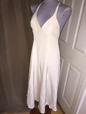 ralph lauren purple collection cream 100% silk marilyn monroe dress 8 USA $3200