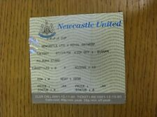 27/09/1994 Ticket: Newcastle United v Royal Antwerp [UEFA Cup] (Creased Folded).