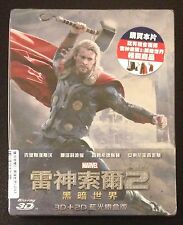 THOR The Dark World 3D & 2D Blu-Ray SteelBook Taiwan Region Free New OOP Rare