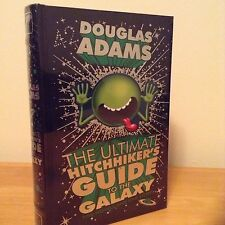 THE ULTIMATE HITCHHIKERS GUIDE TO THE GALAXY LEATHER BOUND HARDBACK BOOK