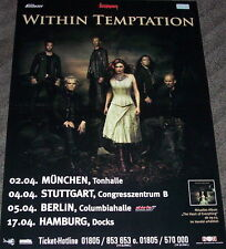 "WITHIN TEMPTATION ""The Heart Of Everything"" Tour Poster GERMANY 2008"