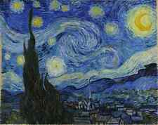 "Vincent van Gogh ""Starry Night"" from 1889 Digital Photo for Printing on Canvas!"