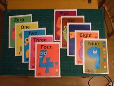 Happy numbers - room posters - learning teaching math numbers aid toy child.
