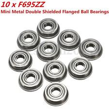 10X F695zz Mini Metal Double Shielded Flanged Ball Bearings Parts For 3D Printer