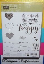 Stampin Up HELLO LIFE photopolymere Stamp Set Hearts Happy Love So Sweet