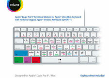Apple Logic Pro 9 pegatinas teclado | Mac | Qwerty UK, US | deslumbramiento pegatinas!