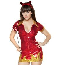 Roma Devil Halloween Sequin Sexy Womens Costume M/L 10/12