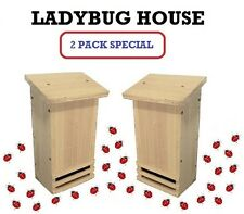Ark Workshop Ladybug House 2 Pack for natural insect aphid control flower garden