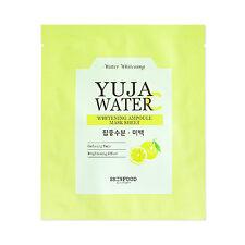 [SKINFOOD] Yuja Water Whitening Ampoule Mask Sheet Samples - 2pcs