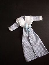 VINTAGE PEDIGREE SINDY 1983 NIGHT TIME BLUE & WHITE STRIPPED DRESSING GOWN ROBE