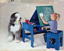 Children's Colouring Desk and Chair Pattern