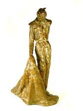 """Vintage Artist Signed KOLTO Brutalist Bronze Sculpture Bull Fighter Figure 11"""""""