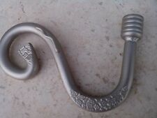 Iron Window Curtain Rod Finial End Silver Collor