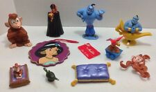 10 pc Lot Disney Aladdin Figures Genie Abu Jasmine Sultan
