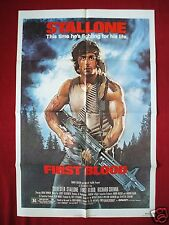 FIRST BLOOD * 1982 ORIGINAL MOVIE POSTER 1SH RAMBO SYLVESTER STALLONE UNUSED NM