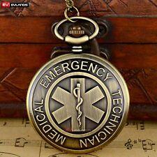 EMT Gift Antique Quartz Pocket Necklace Pendant Watches Bronze Vintage Steampunk