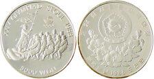 COREE   SEOUL  TIR A LA CORDE  5000  WON  ARGENT  1987  CAPSULE  FLEUR  DE  COIN
