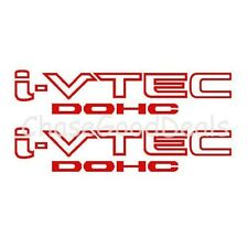RED I-VTEC DOHC STICKER X2 DECAL EMBLEM CIVIC S2000 ACCORD JDM IMPORT ILLEST