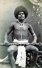 Fijian Tribesman Mountain Warrior Kai Kolo 1870 Fiji 6x4 Inch Reprint Photo