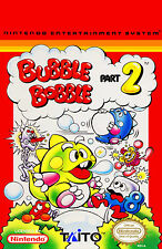 Encadrée nes nintendo jeu imprimé – bubble bobble part 2 (photo poster snes)