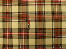 English Plaid Brushed Cotton  Upholstery Drapery Fabric