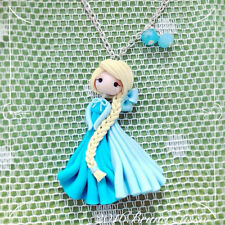 Collana Elsa ~ Cute Frozen Disney Necklace Fimo Polymer Clay Kawaii Ghiaccio