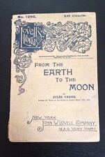 """""""From the Earth to the Moon"""" 1888 Edition-Dime Novel-Jules Verne Very Rare"""