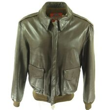 Vintage 80s Cooper Type A-2 Jacket 46 Long Flight Leather Goatskin