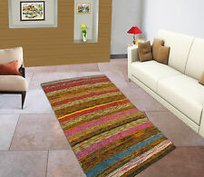 Chindi Recycled Cotton Rag Indian Rug Handmade Floor Runner Hand Woven Mat