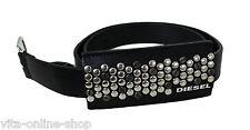 DIESEL Belts BIDEP Damen Ledergürtel, Rindsleder, schwarz