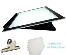 """light Pad LED Drawing Table Copy Tracing Stencil Board Clip USB L4S Holder 17.7"""""""