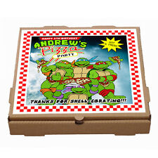 Printable Personalized TMNT Teenage Mutant Ninja Turtles Pizza Box Label
