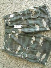 NEW I-JEANS BY BUFFALO CAMO CARGO SHORTS MENS 29 FREE SHIP