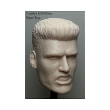 """Custom 1/6 Scale DOLPH LUNDGREN """"Ivan Drago"""" ROCKY IV with spiked hair neckless"""