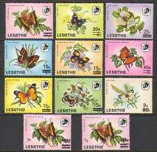Lesotho 1986 Surcharges/Butterflies/Insects 11v n21915