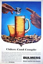 1960s 'BULMERS' Cider Advert 'Cool Couple' - Small Beer Print AD