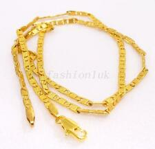 Real 24K Yellow Gold Plated Style Chain Necklace Part Pretty Cute Small 2mm 45cm